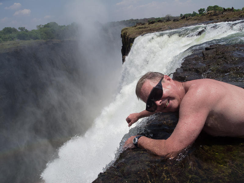 Looking over the Edge of Victoria Falls